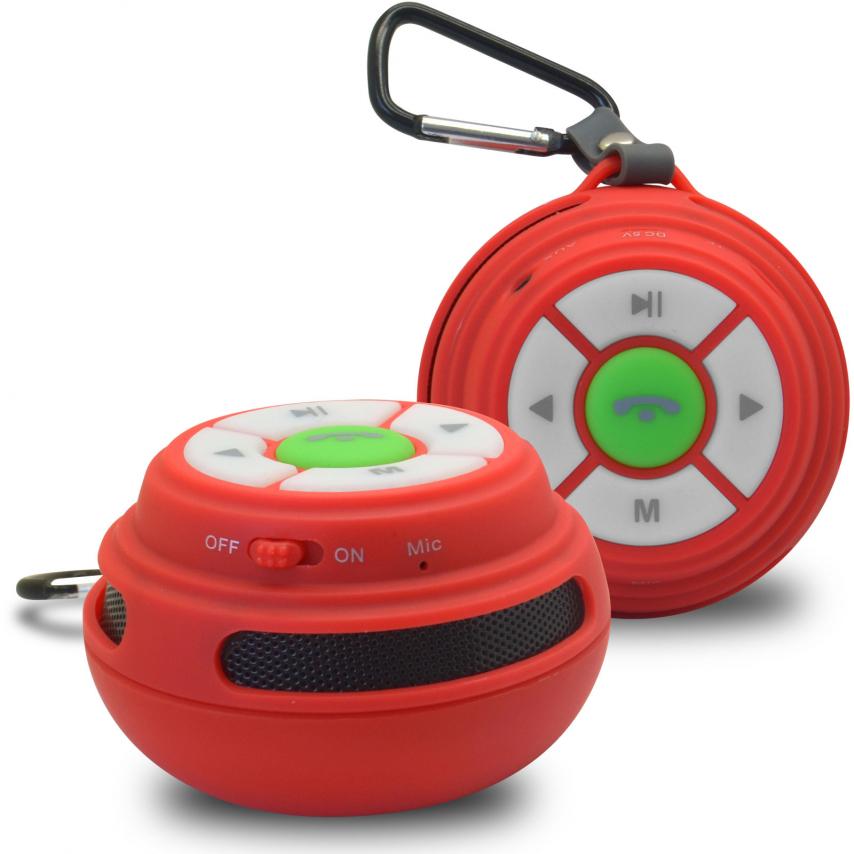 Vue Principale de Enceinte Bluetooth Ultimate SoundBall 3W USB/Micro SD/Jack & Mains libres rouge