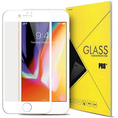 """Protection d'écran Verre trempé Apple iPhone 7/8 (4.7"""") 5D Hybrid Full Glue Blanc 0.33mm 2.5D"""