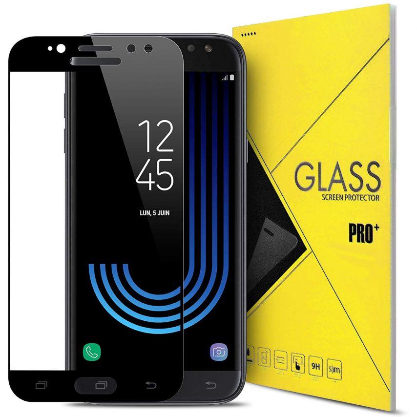 """Protection d'écran Verre trempé Samsung Galaxy J5 2017 J530 (5.2"""") 5D Hybrid Full Glue Noir 0.33mm 2.5D"""
