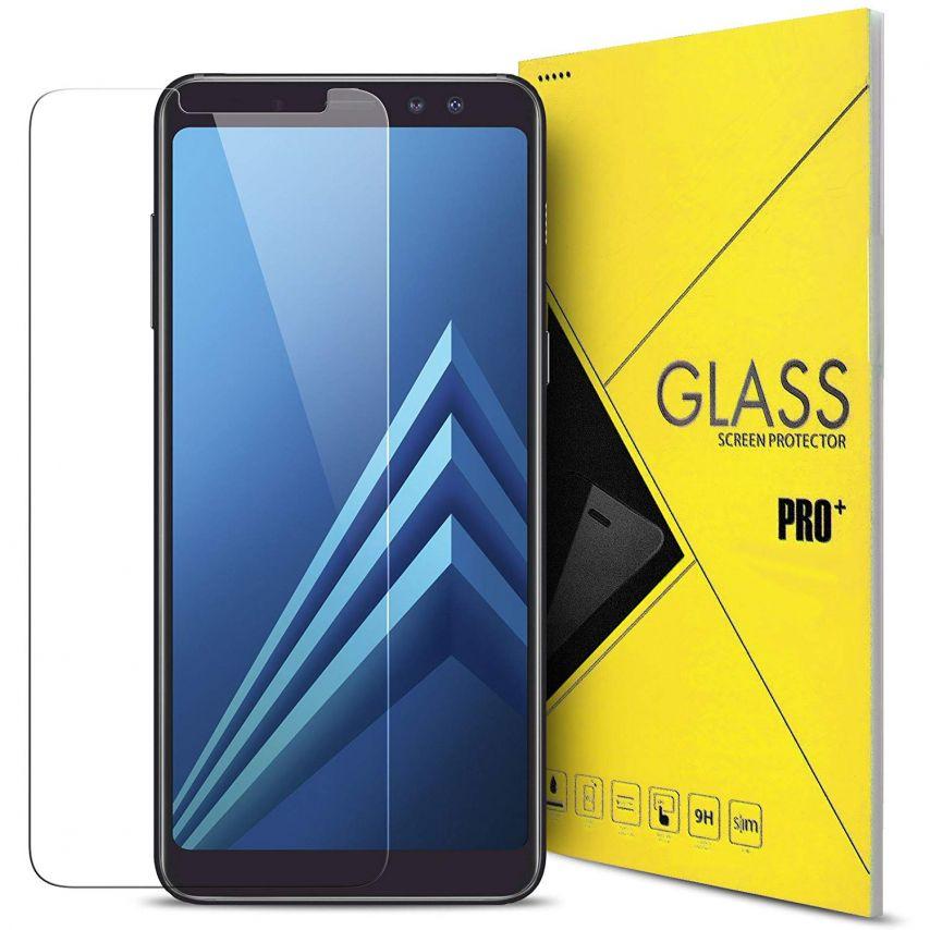 """Protection d'écran Verre trempé Samsung Galaxy A8 PLUS (A730) (6"""") 9H Glass Pro+ HD 0.33mm 2.5D"""