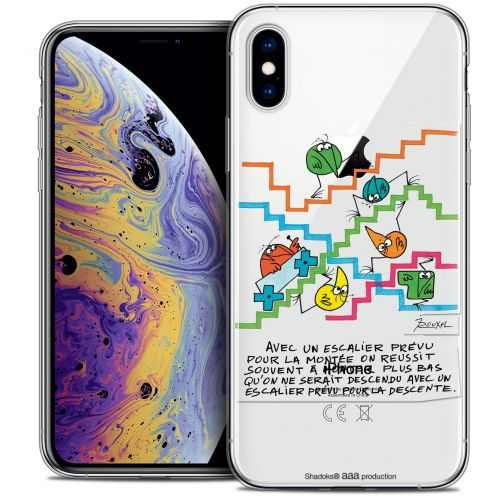 "Coque Gel Apple iPhone Xs Max (6.5"") Extra Fine Les Shadoks® - L'escalier"