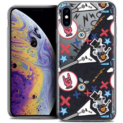 "Coque Gel Apple iPhone Xs Max (6.5"") Extra Fine Lapins Crétins™ - Rock Pattern"