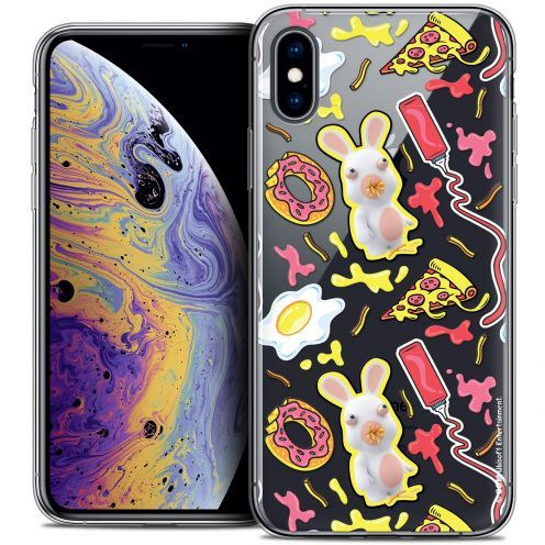 "Coque Gel Apple iPhone Xs Max (6.5"") Extra Fine Lapins Crétins™ - Egg Pattern"