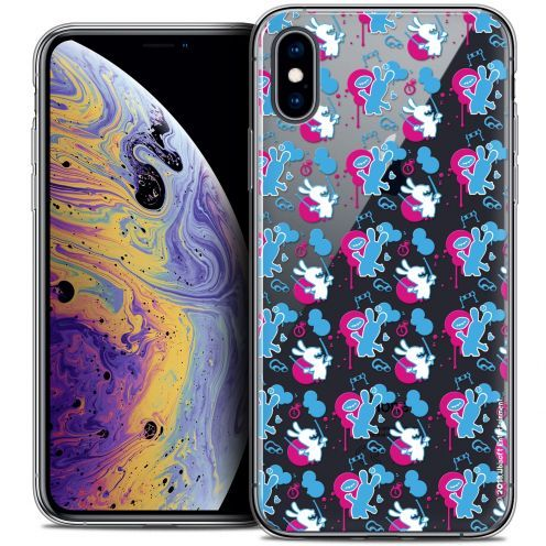 "Coque Gel Apple iPhone Xs Max (6.5"") Extra Fine Lapins Crétins™ - Rugby Pattern"