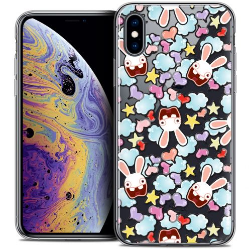 "Coque Gel Apple iPhone Xs Max (6.5"") Extra Fine Lapins Crétins™ - Love Pattern"