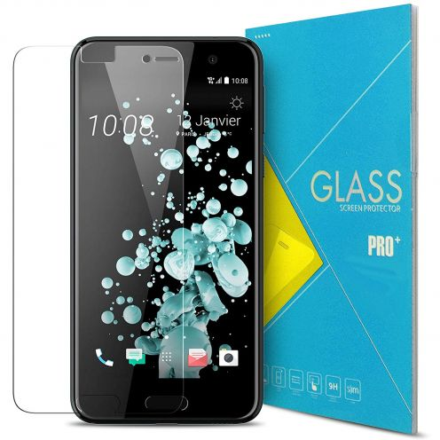 Protection d'écran Verre trempé HTC U Play - 9H Glass Pro+ HD 0.33mm 2.5D