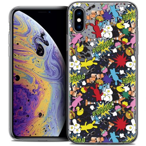 "Coque Gel Apple iPhone Xs Max (6.5"") Extra Fine Lapins Crétins™ - Bwaaah Pattern"