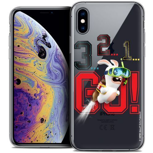 "Coque Gel Apple iPhone Xs Max (6.5"") Extra Fine Lapins Crétins™ - 321 Go !"