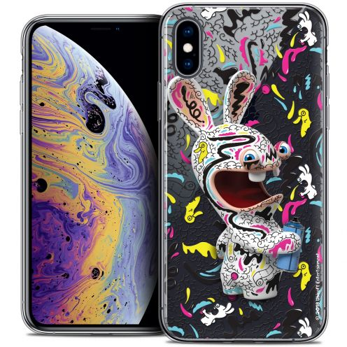 "Coque Gel Apple iPhone Xs Max (6.5"") Extra Fine Lapins Crétins™ - Tag"