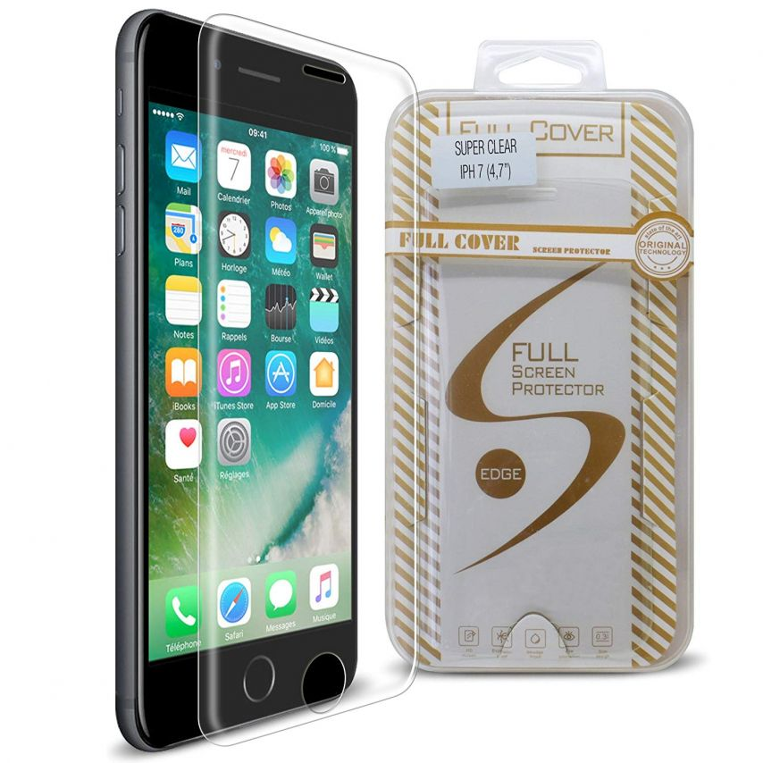 Protection d'écran Verre trempé Apple iPhone 7/8 (4.7) Full Cover Ultra Clear – 9H HD 0.33mm 2.5D