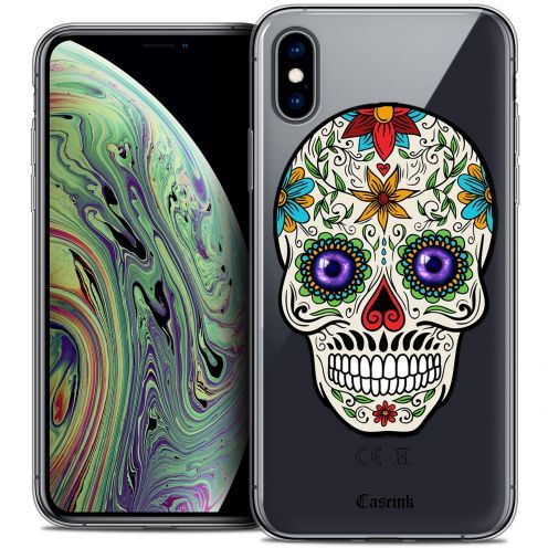 """Coque Crystal Gel Apple iPhone Xs Max (6.5"""") Extra Fine Skull - Maria's Flower"""