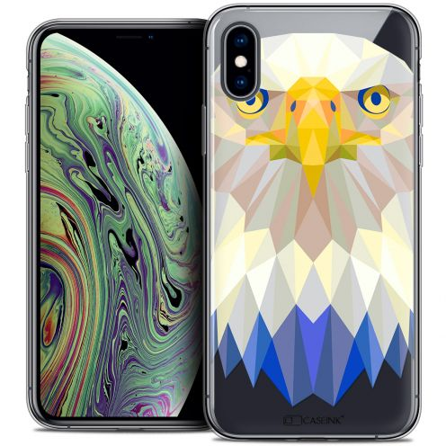 """Coque Crystal Gel Apple iPhone Xs Max (6.5"""") Extra Fine Polygon Animals - Aigle"""