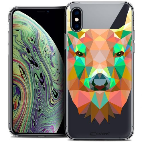 """Coque Crystal Gel Apple iPhone Xs Max (6.5"""") Extra Fine Polygon Animals - Cerf"""