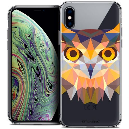 "Coque Crystal Gel Apple iPhone Xs Max (6.5"") Extra Fine Polygon Animals - Hibou"