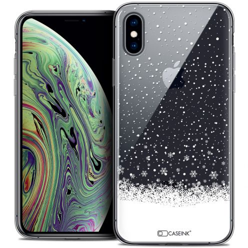 "Coque Crystal Gel Apple iPhone Xs Max (6.5"") Extra Fine Noël 2017 - Flocons de Neige"