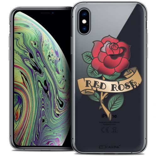 "Coque Crystal Gel Apple iPhone Xs Max (6.5"") Extra Fine Tatoo Lover - Red Rose"