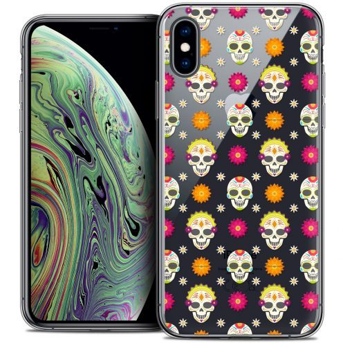 "Coque Crystal Gel Apple iPhone Xs Max (6.5"") Extra Fine Halloween - Skull Halloween"