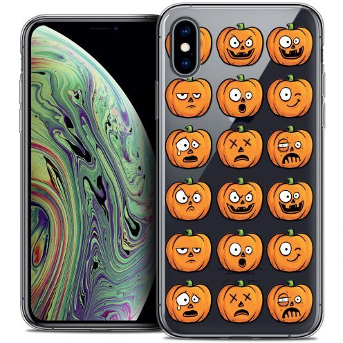 "Coque Crystal Gel Apple iPhone Xs Max (6.5"") Extra Fine Halloween - Cartoon Citrouille"