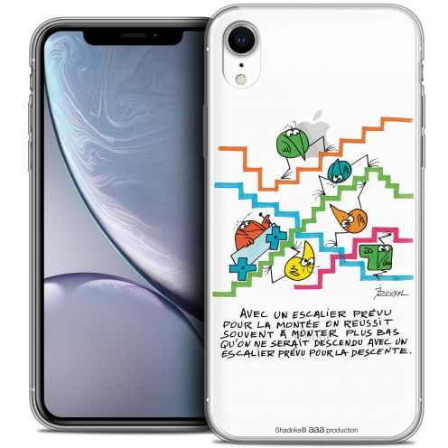 "Coque Gel Apple iPhone Xr (6.1"") Extra Fine Les Shadoks® - L'escalier"