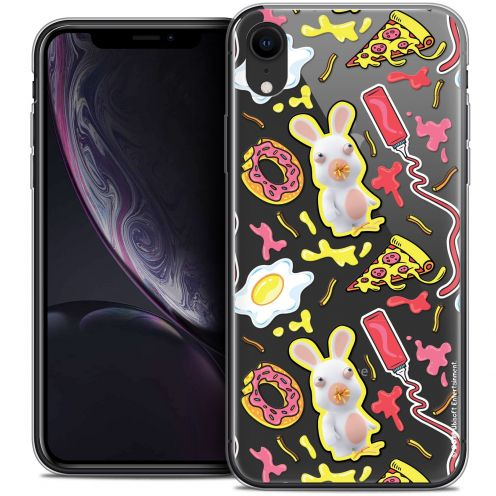 "Coque Gel Apple iPhone Xr (6.1"") Extra Fine Lapins Crétins™ - Egg Pattern"