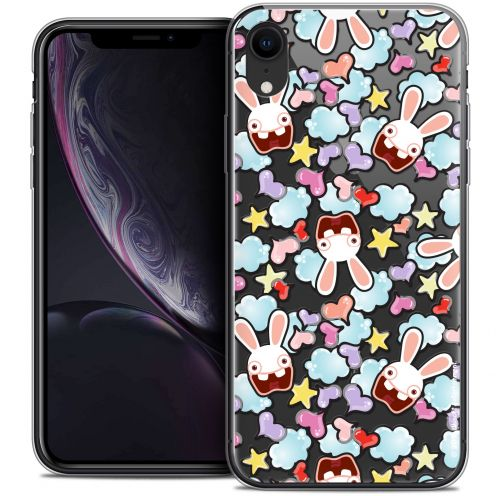 "Coque Gel Apple iPhone Xr (6.1"") Extra Fine Lapins Crétins™ - Love Pattern"