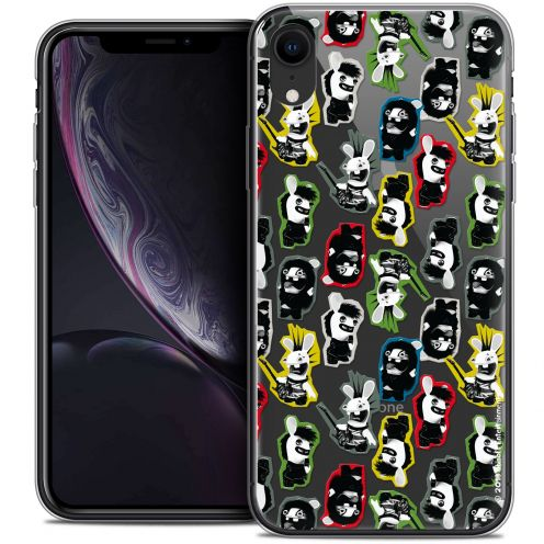 "Coque Gel Apple iPhone Xr (6.1"") Extra Fine Lapins Crétins™ - Punk Pattern"