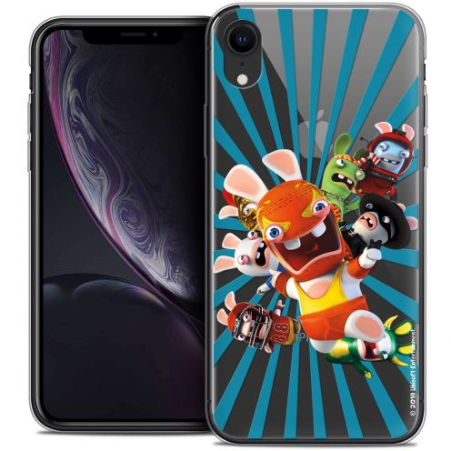 "Coque Gel Apple iPhone Xr (6.1"") Extra Fine Lapins Crétins™ - Super Heros"