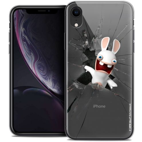 "Coque Gel Apple iPhone Xr (6.1"") Extra Fine Lapins Crétins™ - Breaking Glass"