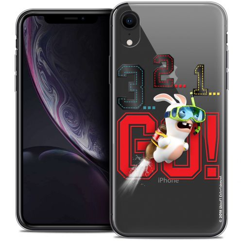 "Coque Gel Apple iPhone Xr (6.1"") Extra Fine Lapins Crétins™ - 321 Go !"