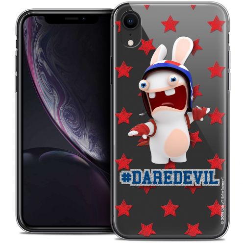 "Coque Gel Apple iPhone Xr (6.1"") Extra Fine Lapins Crétins™ - Dare Devil"