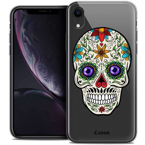 "Coque Crystal Gel Apple iPhone Xr (6.1"") Extra Fine Skull - Maria's Flower"