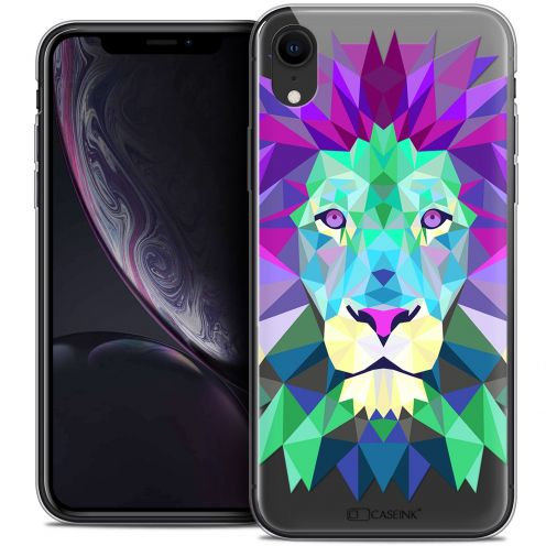 "Coque Crystal Gel Apple iPhone Xr (6.1"") Extra Fine Polygon Animals - Lion"