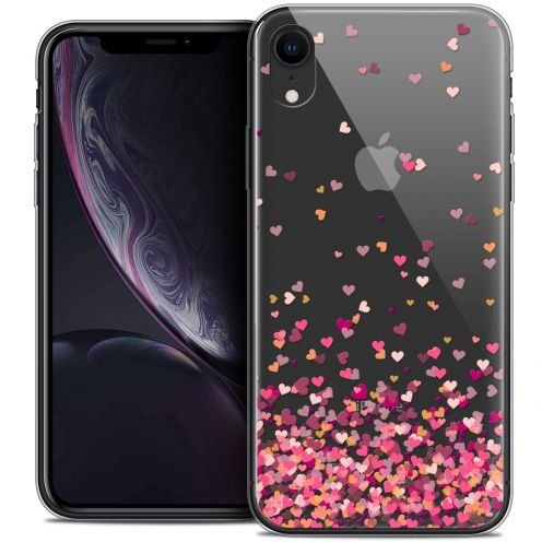 "Coque Crystal Gel Apple iPhone Xr (6.1"") Extra Fine Sweetie - Heart Flakes"