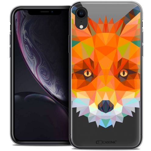 "Coque Crystal Gel Apple iPhone Xr (6.1"") Extra Fine Polygon Animals - Renard"
