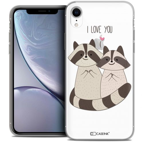 "Coque Crystal Gel Apple iPhone Xr (6.1"") Extra Fine Sweetie - Racoon Love"