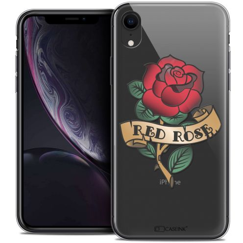 "Coque Crystal Gel Apple iPhone Xr (6.1"") Extra Fine Tatoo Lover - Red Rose"