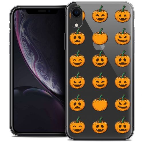 "Coque Crystal Gel Apple iPhone Xr (6.1"") Extra Fine Halloween - Smiley Citrouille"