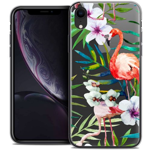"Coque Crystal Gel Apple iPhone Xr (6.1"") Extra Fine Watercolor - Tropical Flamingo"
