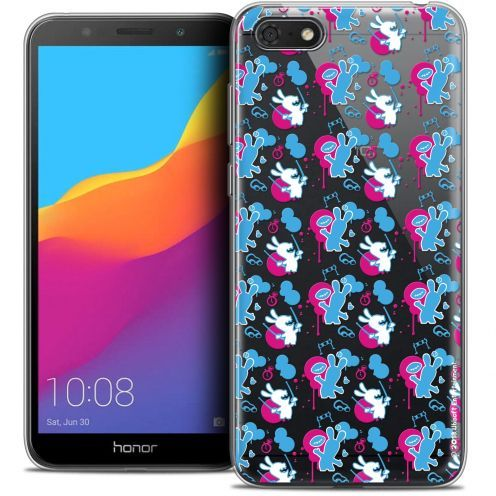 """Coque Gel Huawei Y5 2018 (5.4"""") Extra Fine Lapins Crétins™ - Rugby Pattern"""