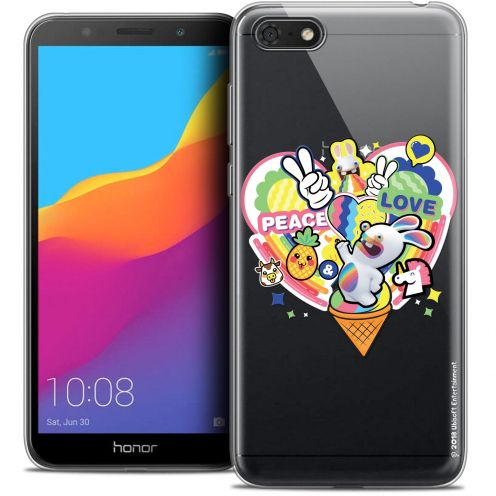 "Coque Gel Huawei Y5 2018 (5.4"") Extra Fine Lapins Crétins™ - Peace And Love"