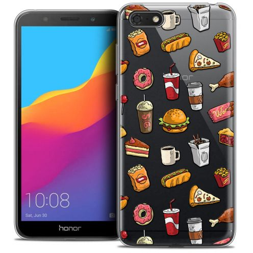 "Coque Crystal Gel Huawei Y5 2018 (5.4"") Extra Fine Foodie - Fast Food"