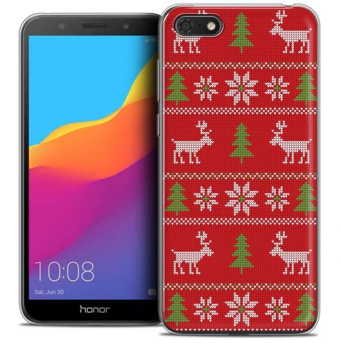 """Coque Crystal Gel Huawei Y5 2018 (5.4"""") Extra Fine Noël 2017 - Couture Rouge"""