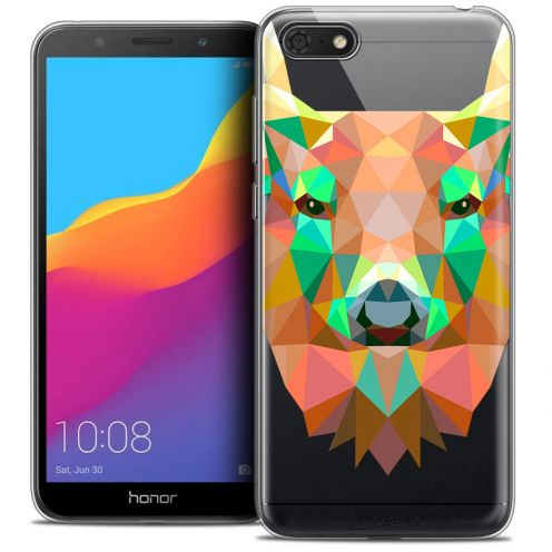 "Coque Crystal Gel Huawei Y5 2018 (5.4"") Extra Fine Polygon Animals - Cerf"