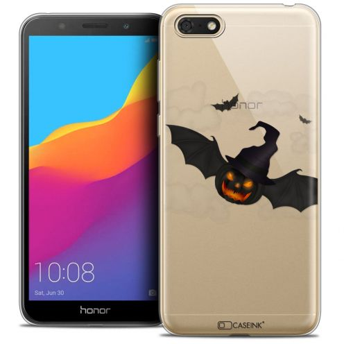 """Coque Crystal Gel Huawei Y5 2018 (5.4"""") Extra Fine Halloween - Chauve Citrouille"""