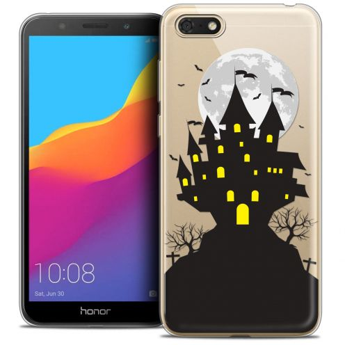 "Coque Crystal Gel Huawei Y5 2018 (5.4"") Extra Fine Halloween - Castle Scream"