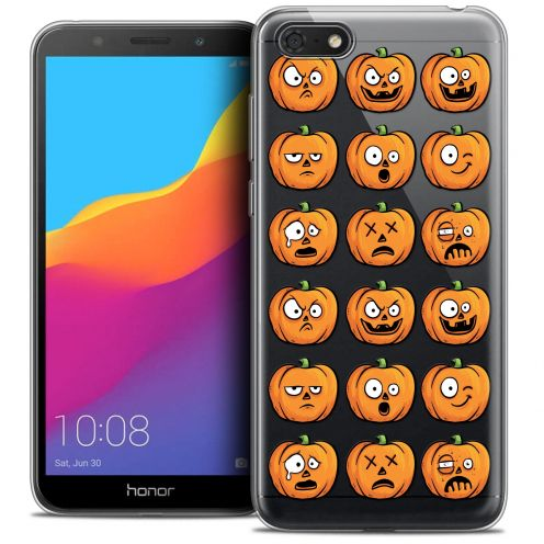 "Coque Crystal Gel Huawei Y5 2018 (5.4"") Extra Fine Halloween - Cartoon Citrouille"
