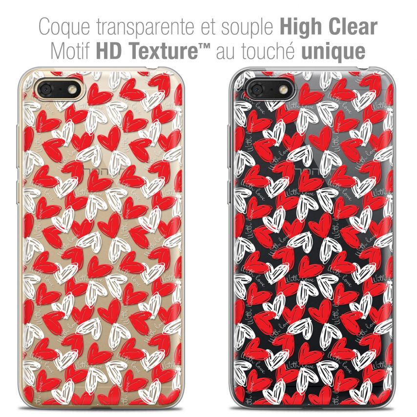 """Coque Crystal Gel Honor 7S (5.45"""") Extra Fine Love - With Love"""