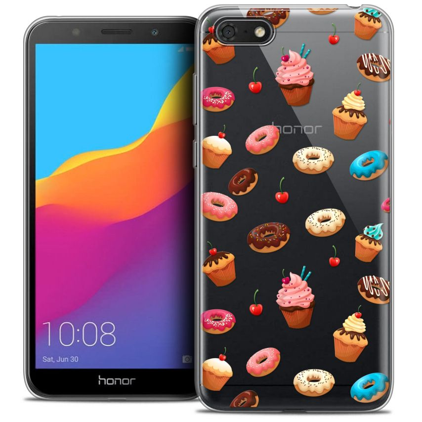 "Coque Crystal Gel Honor 7S (5.45"") Extra Fine Foodie - Donuts"