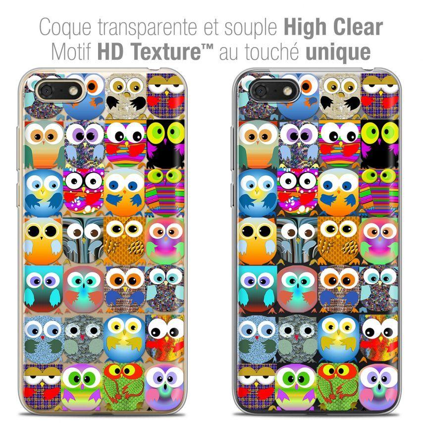 "Coque Crystal Gel Honor 7S (5.45"") Extra Fine Claude - Hibous"