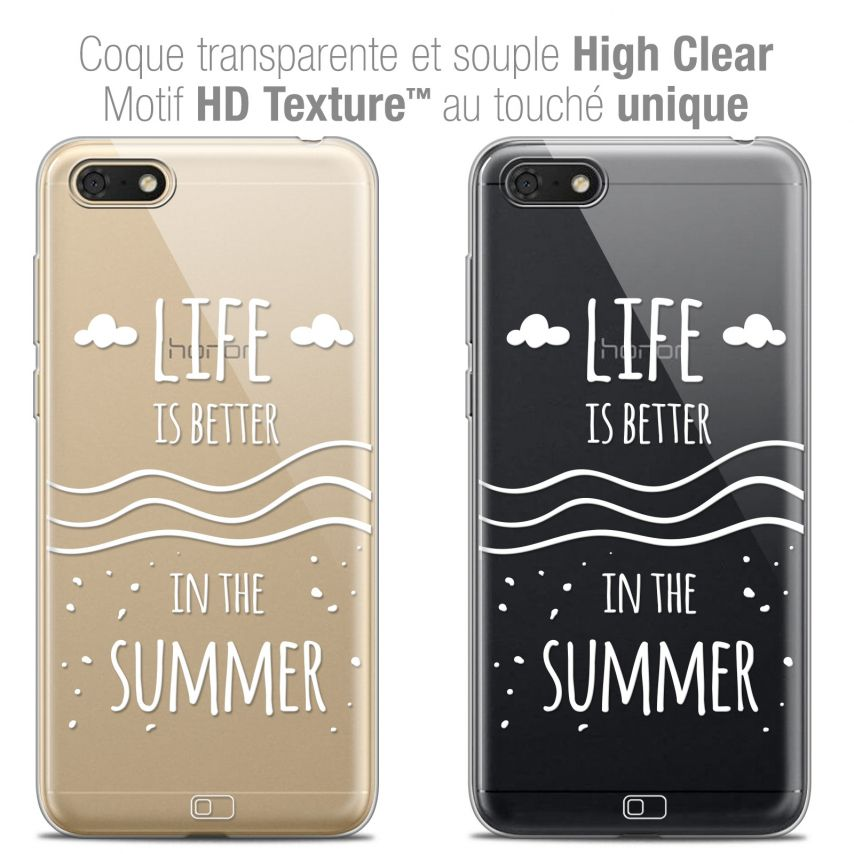 "Coque Crystal Gel Honor 7S (5.45"") Extra Fine Summer - Life's Better"
